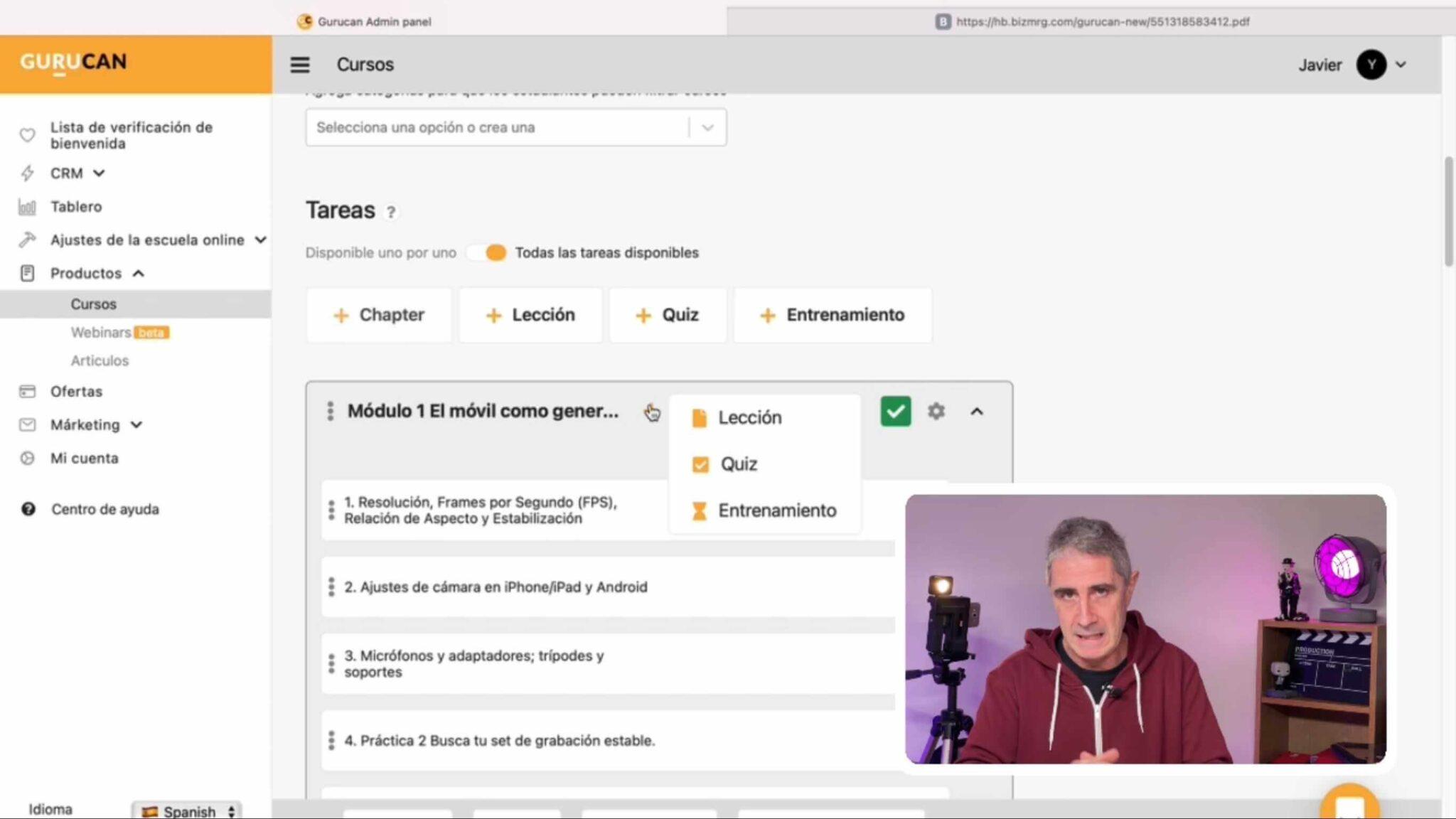 Crear escuela online